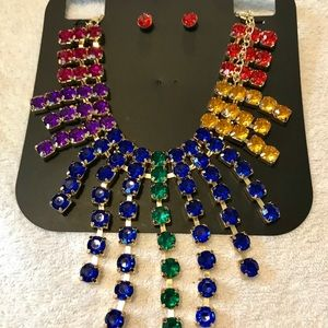 Jewelry - Gorgeous crystal necklace / earring set